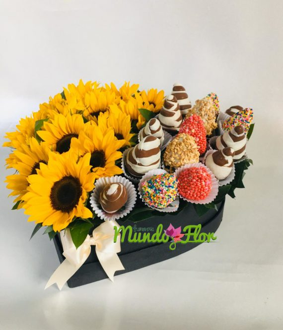 Ramo_girasoles_fresas_chocolates